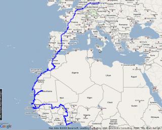 bisherige Route