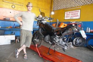 meine KTM bei Toni Togo