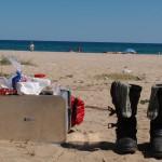 Bikerpicknick am schwarzen Meer