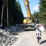 Strasse blockiert in Rumänien