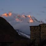 Uschguli, Sonnenuntergang