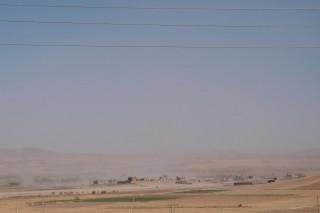 Dorf im Sandsturm