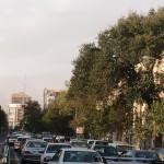 typisches Teheran Straßenbild